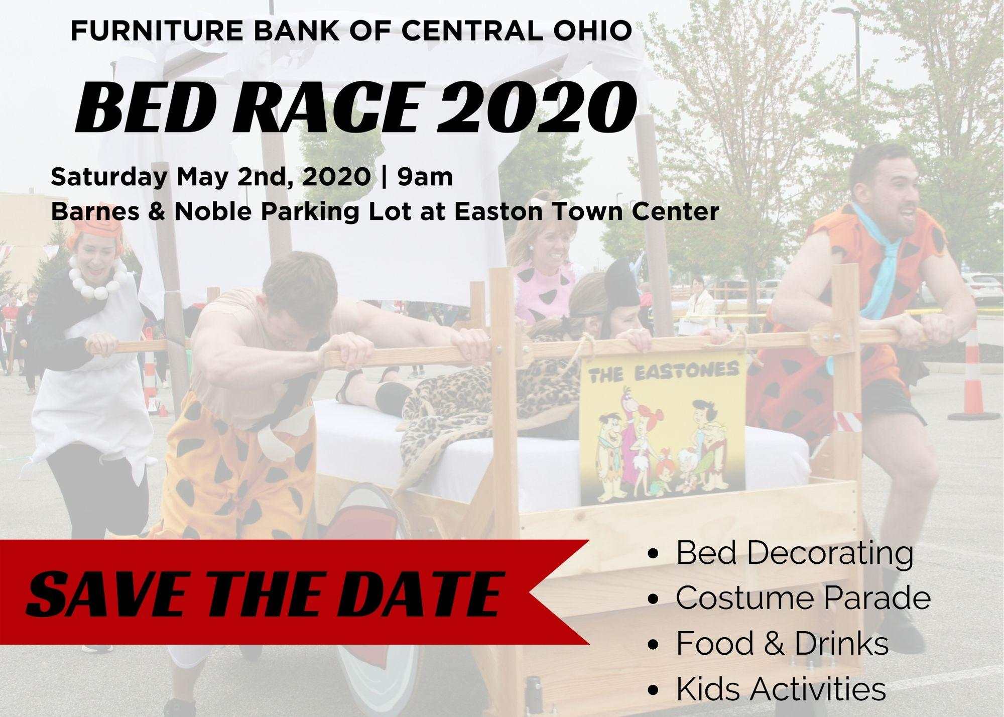 Save the Date for the 2020 Bed Race!